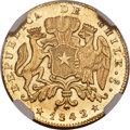 Chile, Chile: Republic gold 2 Escudos 1842 So-IJ MS61 NGC,...