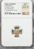 Ancients:Greek, Ancients: IONIA. Erythrae. Ca. 550-500 BC. EL sixth stater or hecte(2.56 gm)....