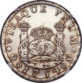Mexico, Mexico: Ferdinand VI 4 Reales 1754 Mo-MF AU Details (ExcessiveSurface Hairlines) NGC,...