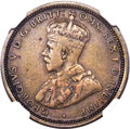 British West Africa: George V tin-brass Pattern Shilling 1920-G F12 NGC