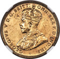 British West Africa, British West Africa: George V tin-brass Shilling 1924 UNC Details (Surface Hairlines) NGC,...