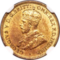 British West Africa, British West Africa: George V tin-brass 3 Pence 1927 MS65 NGC,...