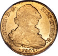 Chile, Chile: Charles IV gold 8 Escudos 1801 So-AJMS61 NGC,...