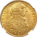 Colombia, Colombia: Charles III gold 8 Escudos 1788 NR-JJ MS63 NGC,...
