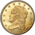 Proof Early Quarter Eagles, 1831 $2 1/2 PR63 Cameo PCGS. BD-1, R.7 as a Proof. ...