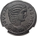 Ancients:Roman Provincial , Ancients: LYDIA. Philadelphia. Julia Domna, wife of SeptimiusSeverus (died AD 217). Æ 29mm (14.93 gm, 5h). ...
