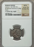 Ancients:Roman Imperial, Ancients: Licinius I (AD 309-324). BI reduced follis (3.54 gm)....