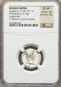 Ancients:Roman Imperial, Ancients: Augustus (27 BC-AD 14). AR denarius (3.74 gm)....