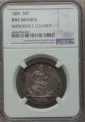 Seated Half Dollars: , 1889 50C -- Improperly Cleaned -- NGC Details. UNC. NGC Census: (0/77). PCGS Population (0/115). Mintage: 12,000. Numismedi...