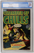 Golden Age (1938-1955):Horror, Chamber of Chills #5 (Harvey, 1952) CGC VF+ 8.5 Off-white to whitepages....