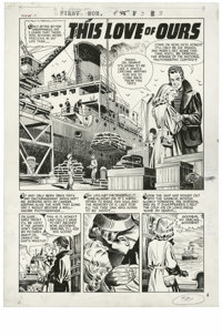 """Warren Kremer - First Romance Magazine #45, Complete 5-page Story """"This Love of Ours"""" Original Art (Harvey, 19..."""