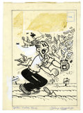 Original Comic Art:Covers, Paul Fung Jr. (attributed) - Dagwood Cover Original Art (Harvey,1960). Dagwood is going to the birds in this cover illustra...