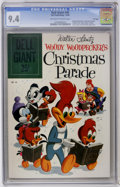 Silver Age (1956-1969):Cartoon Character, Dell Giants #40 Woody Woodpecker's Christmas Parade - File Copy (Dell, 1960) CGC NM 9.4 Off-white to white pages....