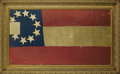 Military & Patriotic:Civil War, BEAUTIFUL CONFEDERATE 10 STAR 1ST NATIONAL FLAG WITH CAPTURE HISTORY....