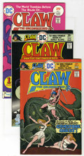 Bronze Age (1970-1979):Miscellaneous, Claw the Unconquered Group (DC, 1975-78) Condition: Average VF.Tremble before this selection, which includes issues #1 (2 c...(Total: 12 Comic Books)