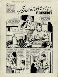"John Prentice (attributed) - True Bride's Experiences #16 Complete 5-page story ""Anniversary Present"" Original..."