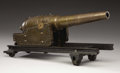 Military & Patriotic:Civil War, ARMORER'S MODEL OF THE ARMSTRONG SEACOAST MUZZLE-LOADING CANNON....