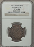 Colonials, 1787 CONNCT ETLIB INDE Small Head Right Connecticut Copper VF30 Brown NGC. NGC Census: (3/4). PCGS Population (2/6)....