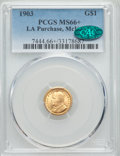 Commemorative Gold, 1903 G$1 Louisiana Purchase McKinley Gold Dollar MS66+ PCGS.CAC....