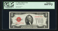 Small Size:Legal Tender Notes, Fr. 1505 $2 1928D Mule Legal Tender Note. PCGS Gem New 66PPQ.. ...