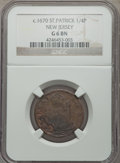 Colonials, ST PATRICK FARTH St. Patrick Farthing Good 6 Brown NGC. NGC Census: (2/67). PCGS Population (5/197)....