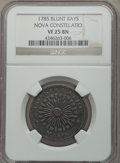 Colonials, 1785 C NOVA Nova Constellation Copper, Blunt Rays VF25 Brown NGC. NGC Census: (3/16). PCGS Population (4/34)....