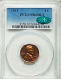Proof Sets, 1941 1C Proof Set PCGS. This set includes the 1C PR65 Red. CAC, 5C PR65, 10C PR65, 25C PR66 and the 50C PR66.... (Total: 5 coins)