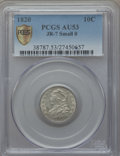 Bust Dimes, 1820 10C Medium 0, JR-7, R.2, AU53 PCGS Secure. PCGS Population(1/2). ...