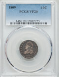 Bust Dimes: , 1809 10C VF20 PCGS. PCGS Population (7/58). Mintage: 51,065. Numismedia Wsl. Price for problem free NGC/...