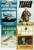 Books:World History, [Aviation]. Group of Four Books, One of Which is INSCRIBED BY GLACIER PILOT BOB REEVE. Various publishers and dates.... (Total: 4 Items)