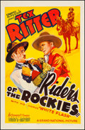 "Movie Posters:Western, Riders of the Rockies (Grand National, 1937). One Sheet (27"" X 41""). Western.. ..."