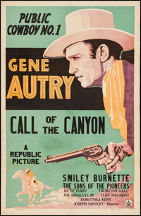 """Call of the Canyon (Republic, 1942). Stock One Sheet (27"""" X 41""""). Western"""