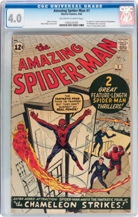 The Amazing Spider-Man #1 (Marvel, 1963) CGC VG 4.0 Off-white to white pages