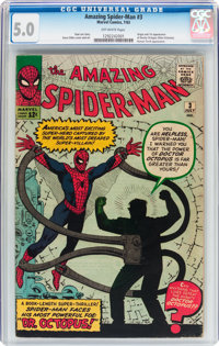 The Amazing Spider-Man #3 (Marvel, 1963) CGC VG/FN 5.0 Off-white pages