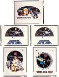 """Movie Posters:Science Fiction, Star Wars (20th Century Fox, 1977). Italian Concept Art ColorTransparencies (5) (4"""" X 5""""). Science Fiction.. ... (Total: 5Items)"""