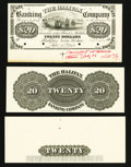 Canadian Currency: , Halifax, NS- The Halifax Banking Company $20 Sept. 14, 1871 Ch. #335-14-04-04P Proof . ... (Total: 3 items)