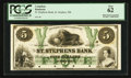 Canadian Currency: , St. Stephen, NB- St. Stephens Bank $5 July 1, 1860 Ch. # 675-18-08P Proof. ...