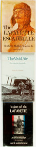 Books:Non-fiction, [Lafayette Escadrille]. [Aviation]. Trio of Books. Various publishers and dates.... (Total: 3 Items)