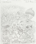 Original Comic Art:Covers, Don Rosa Gladstone Comic Album #28 Uncle Scrooge &Donald Duck Cover Preliminary Sketch Original Art (Gladstone, 1...