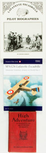 Books:World History, [Aviation, World War I]. Group of Three Books on the Lafayette Escadrille, Including One INSCRIBED. Various publishers, [19... (Total: 3 Items)