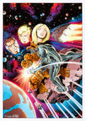 Original Comic Art:Covers, Giorgio Comolo Fantastic Four #172 Cover Recreation OriginalArt (2011)....