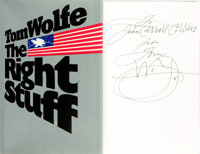 Tom Wolfe. INSCRIBED. The Right Stuff. New York: Farrar, Straus, Giroux, [1979]
