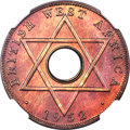 British West Africa, British West Africa: George VI copper Specimen 1/2 Penny 1952-KNSP67 Red and Brown NGC,...