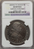 Mexico, Mexico: Ferdinand VII 8 Reales 1809 Mo-TH AU Details (SurfaceHairlines) NGC,...