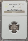 Chile, Chile: Ferdinand VII 1/2 Real 1816 So-FJ MS62 NGC,...