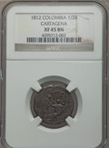 Colombia, Colombia: Cartagena 1/2 Real 1812 XF45 Brown NGC,...