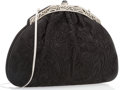 "Luxury Accessories:Bags, Judith Leiber Black Satin Evening Bag. Very Good Condition. 8.5"" Width x 6"" Height x 1"" Depth. ..."