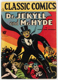 Golden Age (1938-1955):Horror, Classics Illustrated #13 Dr. Jekyll and Mr. Hyde - First Edition(Gilberton, 1943) Condition: VG....