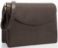 """Luxury Accessories:Accessories, Judith Leiber Brown Karung Shoulder Bag with Tiger's Eye Detail. Very Good to Excellent Condition. 9"""" Width x 8"""" Heigh..."""
