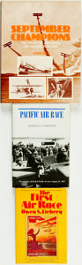 Books:Non-fiction, [Aviation]. Trio of Books Related to Air Races. Various publishers and dates.... (Total: 3 Items)